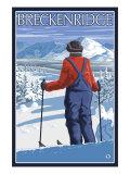 Breckenridge, Colorado, Skier Admiring View Poster by  Lantern Press