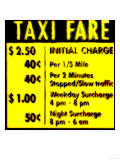 Taxi Fare, New York Print by  Tosh