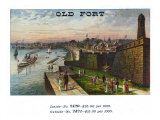 Old Fort Brand Cigar Box Label Print by  Lantern Press