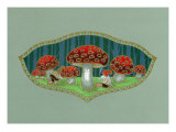 Dwarfs among Toadstools Cigar Box Label Print