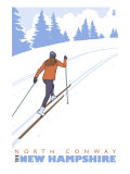 Cross Country Skier, North Conway, New Hampshire Prints
