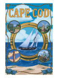 Cape Cod, Massachusetts, Scenic Collages Prints