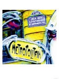 Antique Metro Sign, Paris Giclee Print by  Tosh
