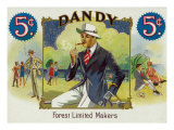Dandy Brand Cigar Box Label Prints by  Lantern Press