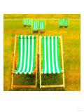 Hyde Park Deck Chairs, London Giclee Print by  Tosh