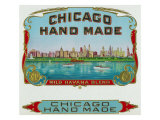 Chicago Hand Made Brand Cigar Box Label Posters by  Lantern Press