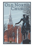 Boston, Massachusetts, Old North Church View Prints by  Lantern Press