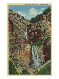 Provo Canyon, Utah, View of Bridal Veil Falls Poster by  Lantern Press