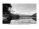 Shelburne, NH, View of Mts. Madison and Adams over the Androscoggin River Prints