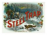 Steel Trap Brand Cigar Box Label, Hunting Print