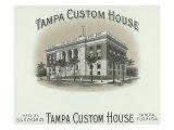 Tampa Custom House Brand Cigar Box Label Print by  Lantern Press
