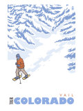 Stylized Snowshoer, Vail, Colorado Posters