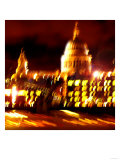 St Pauls Cathedral Night, London Giclee Print by  Tosh