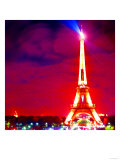 Eiffel Tower Night, Paris Poster by  Tosh