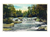 Jackson, New Hampshire, View of Jackson Falls Prints by  Lantern Press