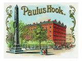 Paulus Hook Brand Cigar Box Label Poster