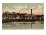Lewiston, Maine, Southeastern View from the South Bridge Art