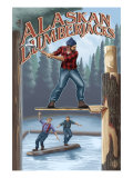 Alaska, Alaskan Lumberjacks Posters by  Lantern Press