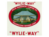 Wylie-Way Brand Cigar Box Label, Wylie Permanent Camping Co in Yellowstone National Park Prints by  Lantern Press