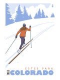 Cross Country Skier, Estes Park, Colorado Prints by  Lantern Press