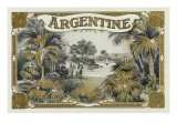 Argentine Brand Cigar Box Label Prints