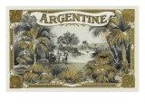 Argentine Brand Cigar Box Label Prints by  Lantern Press