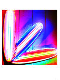 Neon Surf Boards, Miami Giclee Print by  Tosh