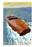 Block Island, Rhode Island, Chris Craft Boat Posters