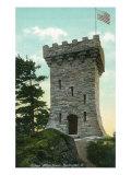 Burlington, Vermont, View of the Ethan Allen Tower Posters