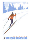 Cross Country Skier, Wausau, Wisconsin Poster by  Lantern Press