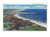 Hampton Beach, New Hampshire, Aerial View of the City Posters