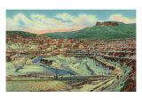 Santa Rita, New Mexico, View of the Open Pit Copper Mine near Silver City Prints