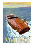 Maine, Chris Craft Boat Prints