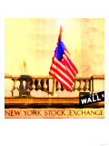 Wall Street, New York Print by Tosh 