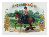 Nebraska Girl Brand Cigar Box Label Posters