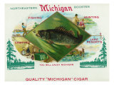 Michigan Brand Cigar Box Label Posters