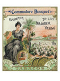 Commodore Bouquet Brand Cigar Box Label Poster by  Lantern Press