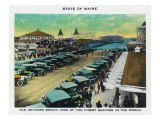 Old Orchard Beach, Maine, View of Crowded Parking Lot, the Pier Art by  Lantern Press