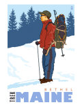 Snow Hiker, Bethel, Maine Posters by  Lantern Press