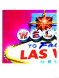 Welcome To Vegas, Las Vegas Print by  Tosh