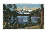 Alaska, View of Mendenhall Glacier, Auk Lake near Juneau Prints by  Lantern Press