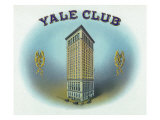 Yale Club Brand Cigar Box Label Art