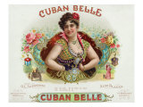 Cuban Belle Brand Cigar Box Label Print by  Lantern Press