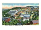 Lead, South Dakota, Aerial View of the Homestake Mining Co Mills and Shops Posters by  Lantern Press