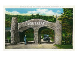 Montreat, North Carolina, Assembly Grounds Entrance Gate View Poster