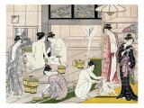 Bathhouse Women, Japanese Wood-Cut Print Poster by  Lantern Press