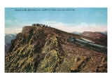 Mount McClellan, Colorado, View of the Argentine Central Railroad Train at Summit Art