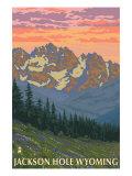 Jackson Hole, Wyoming, Spring Flowers Art by  Lantern Press