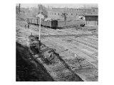 Atlanta, GA, Depot Destroyed on Sherman's Departure, Civil War Art