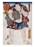 The Sumo Wrestler Ichiriki of the East Side, Japanese Wood-Cut Print Print